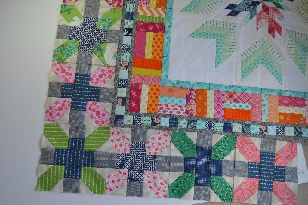 Aviatrix medallion patchwork quilt