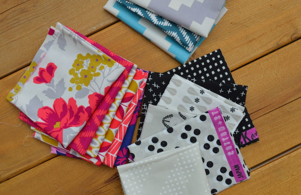 Flora Fabrics by Joel Dewberry for Free Spirit fabrics with basics by Cotton and Steel