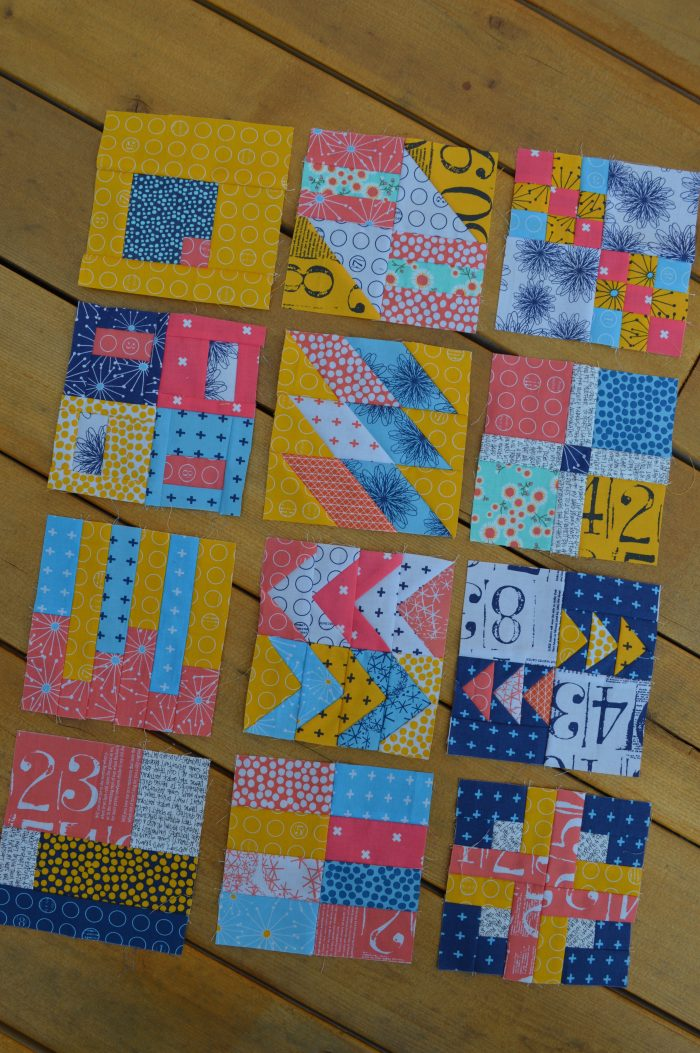 simple six inch modern sampler quilt blocks
