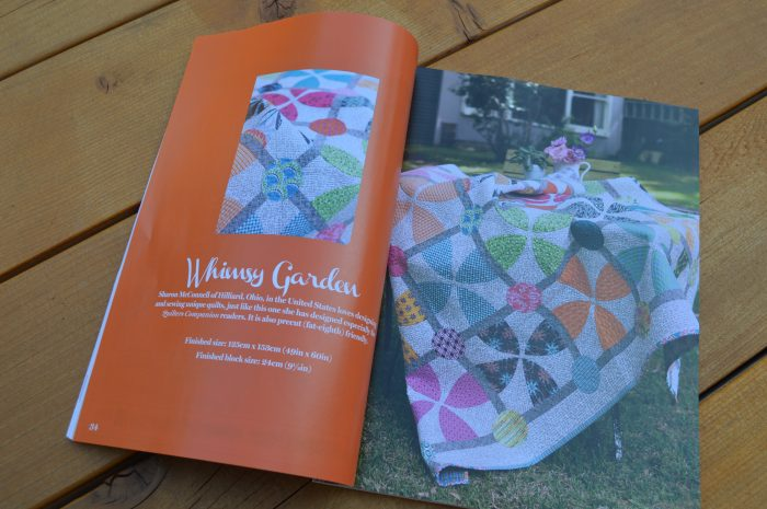 Australian Quilters companion magazine featuring whimsy garden quilt by Sharon McConnell