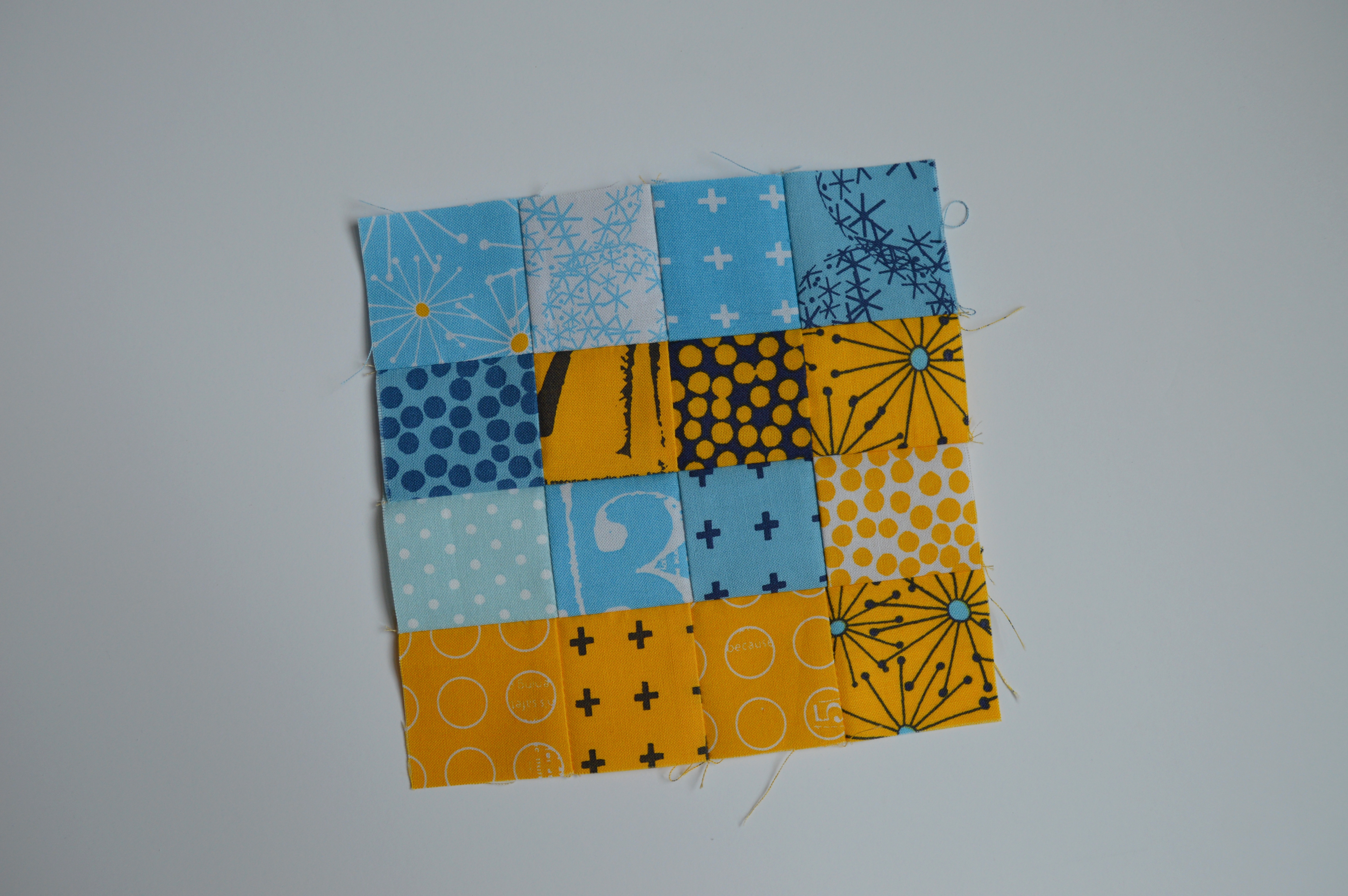 how to make super simple modern sampler quilt blocks with squares, tutorial