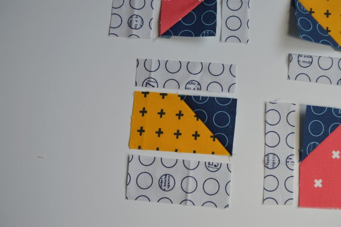 how to make a simple modern sampler quilt block
