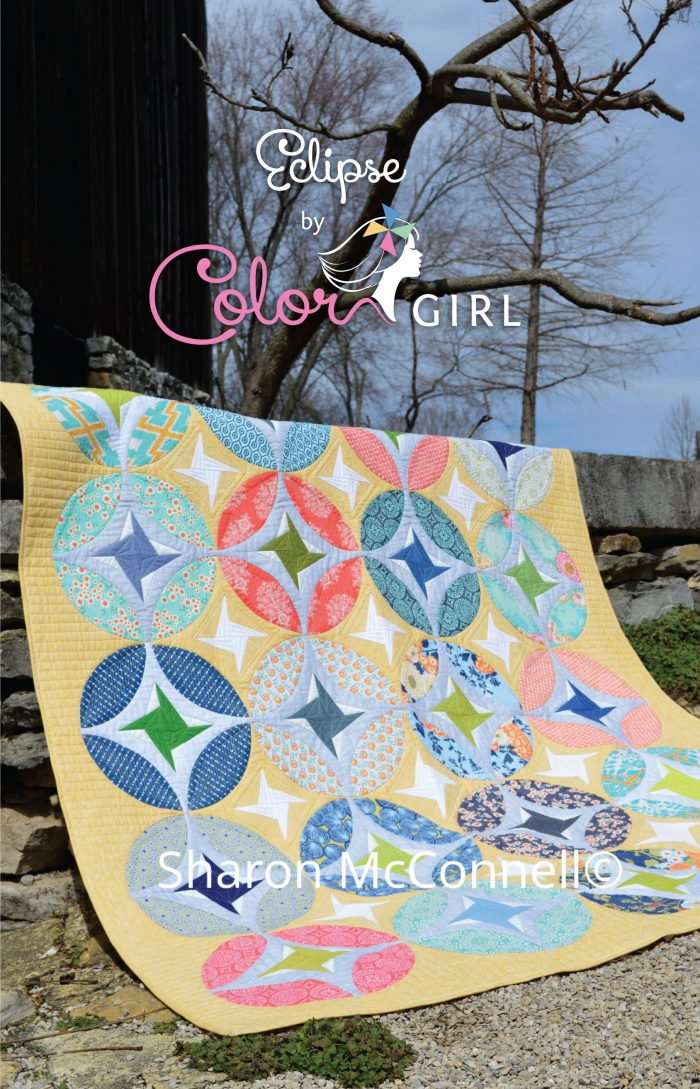 Eclipse quilt pattern by Color Girl Sharon McConnell