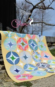 Eclipse quilt pattern cover, modern curved piecing patchwork