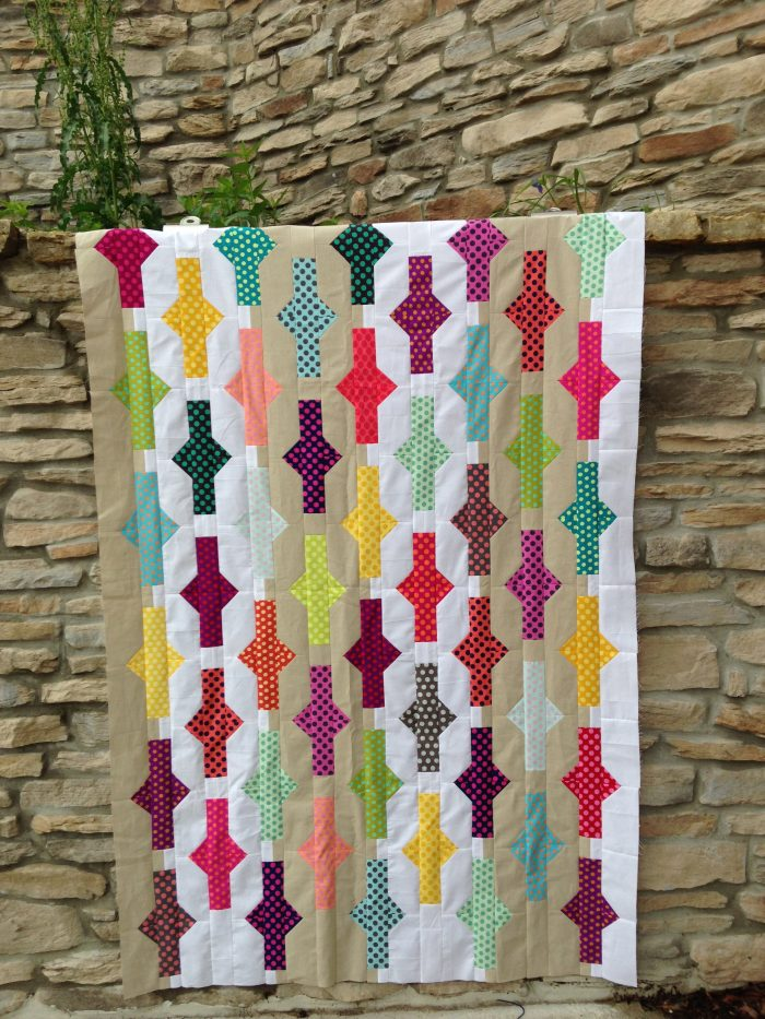 unidentified quilt by Sharon McConnell, featured in Quilt Now magazine