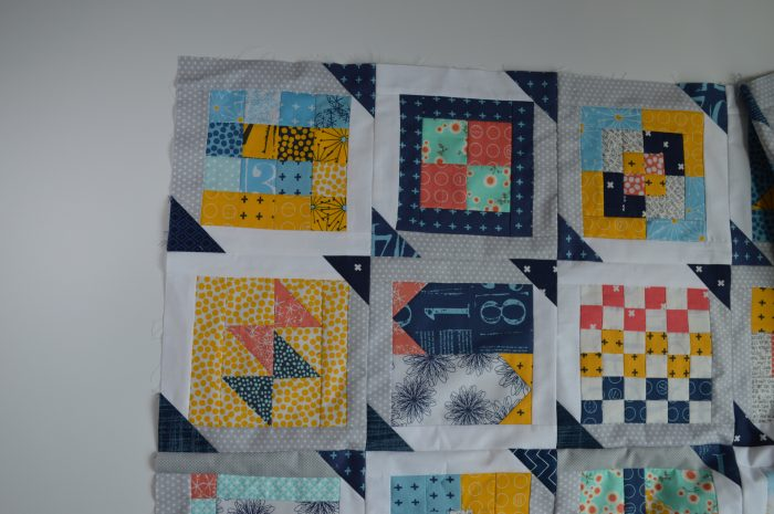 how to sew simple modern patchwork sampler quilt