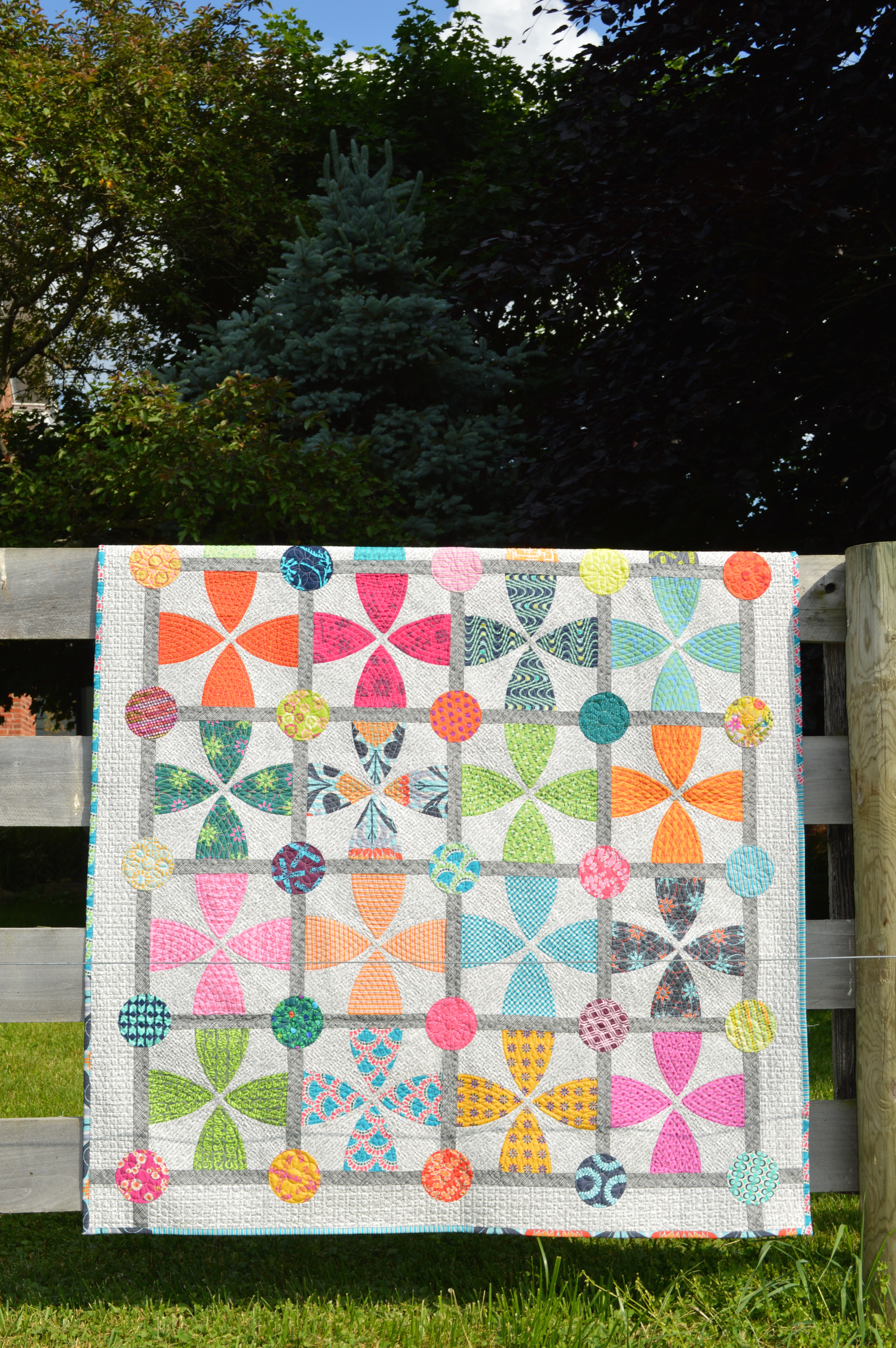 Sew A Whimsy Garden Quilt Pattern Available Color Girl