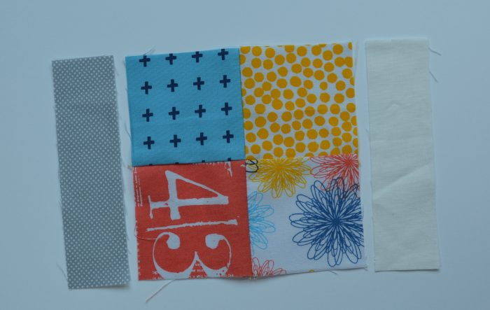 how to make simple modern sampler quilt,