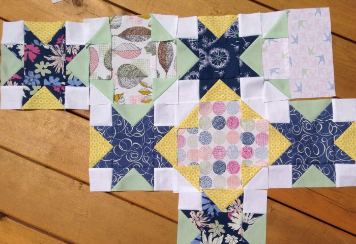 Star Crossed quilt, pattern by Color Girl quilts with Sketchbook fabrics by Art Gallery Fabrics