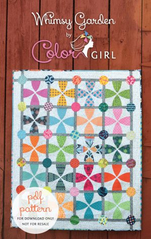 Whimsy Garden modern curved piecing quilt pattern