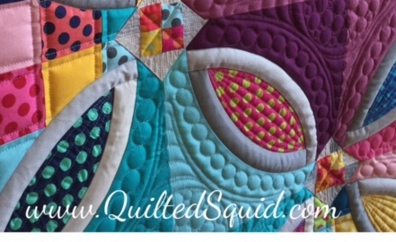 Polka Dot Bikini Quilt by Sharon McConnell, Pattern by Color Girl quilts