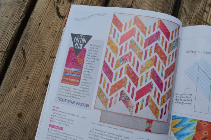 Love Patchwork and Quilting issue 24 quilt by Laura Pritchard