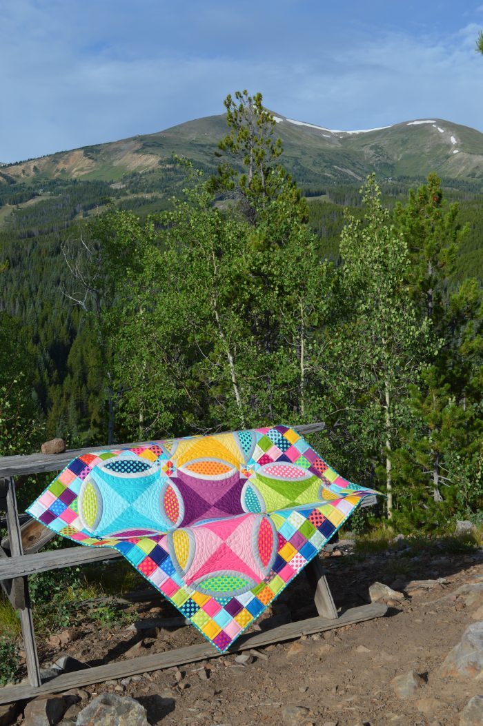 polka dot bikini quilt by Color Girl using kona cotton solids fabrics