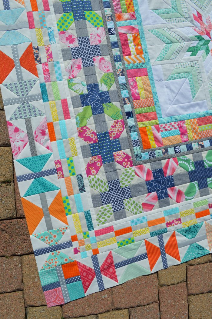 Aviatrix medallion modern patchwork quilt by Sharon McConnell