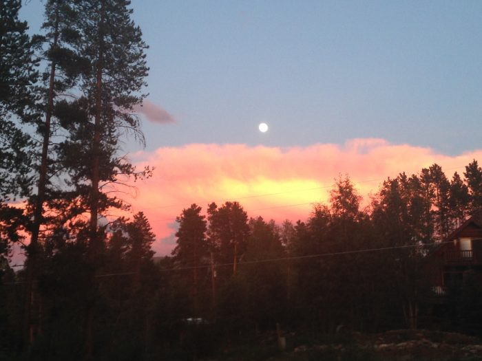 Colorado Sunset and moon