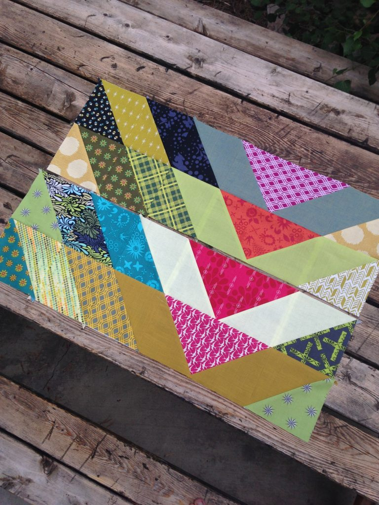 broken V quilt with Free Spirit Fabrics, pattern by Christa Quilts