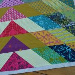 Quilt in Progress: Broken V FMQ