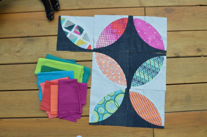 Eclipse quilt piecing, pattern by Sharon McConnell, colorgirlquilts