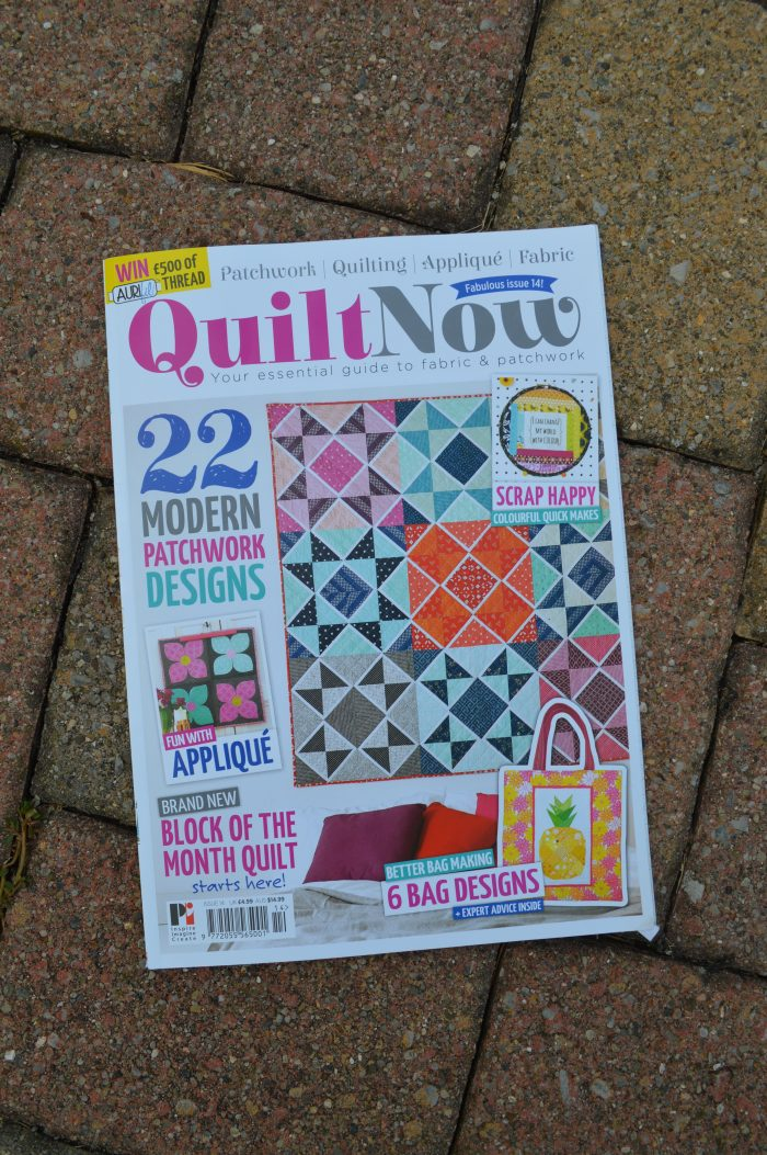Quilt Now issue 14 featuring Festival quilt pattern by Sharon McConnell