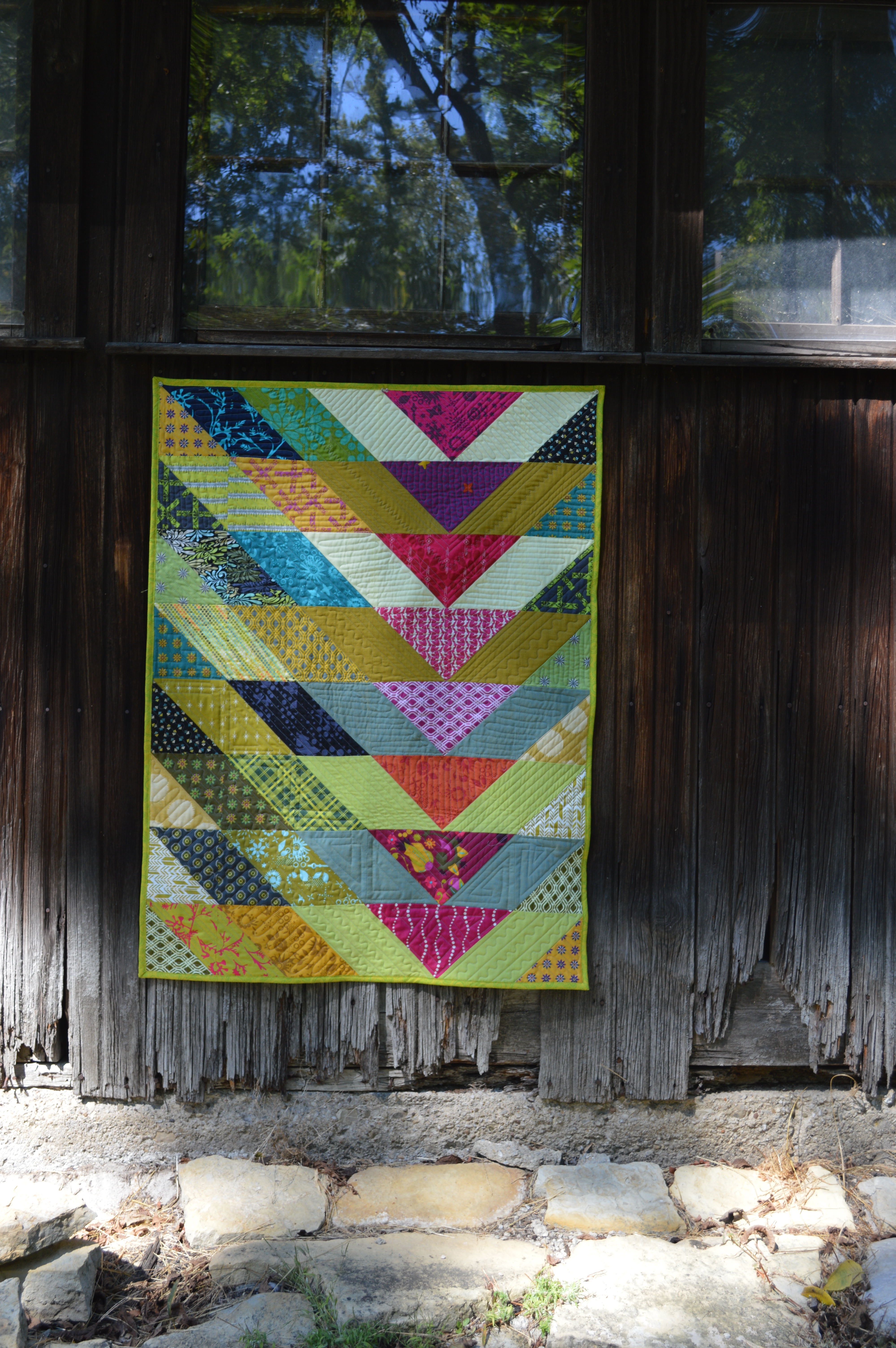 Machine Quilting With Style Broken V Quilt Color Girl