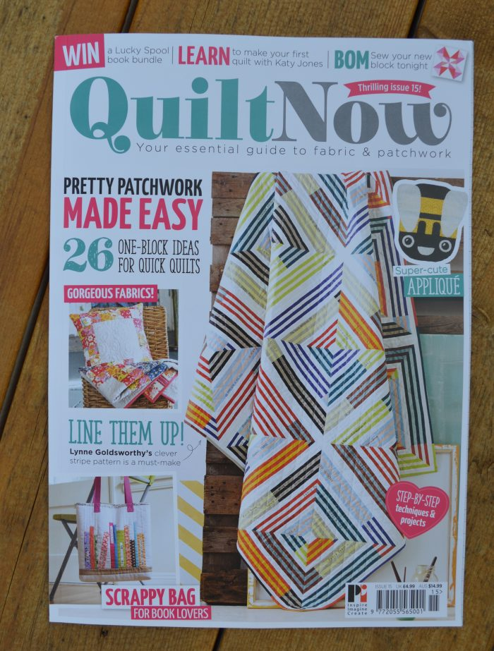 quilt now magazine issue 15 featuring Archer Quilt by Sharon McConnell