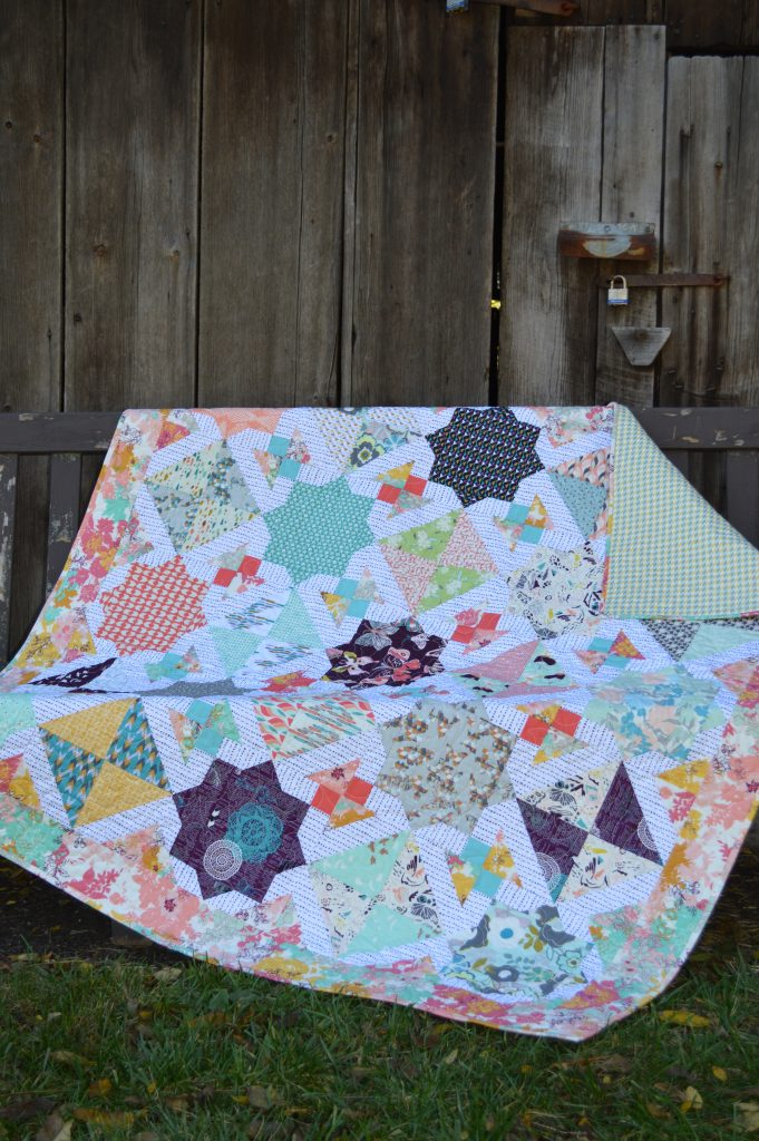 Quilt pattern by Sharon McConnell using Art Gallery fabrics