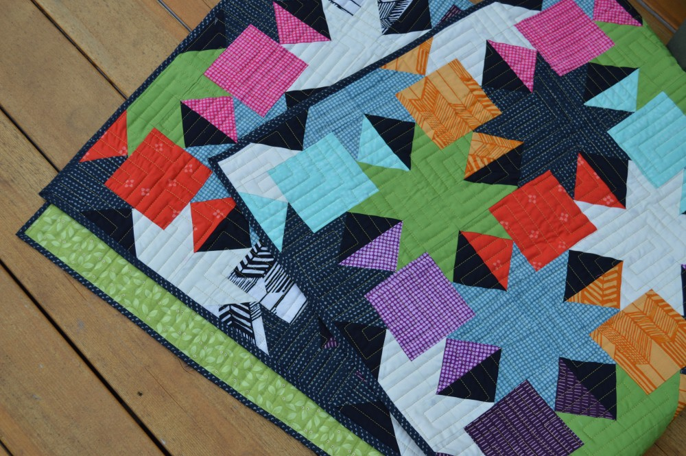 Sparkle quilt pattern, modern patchwork quilt with stars for charm squares