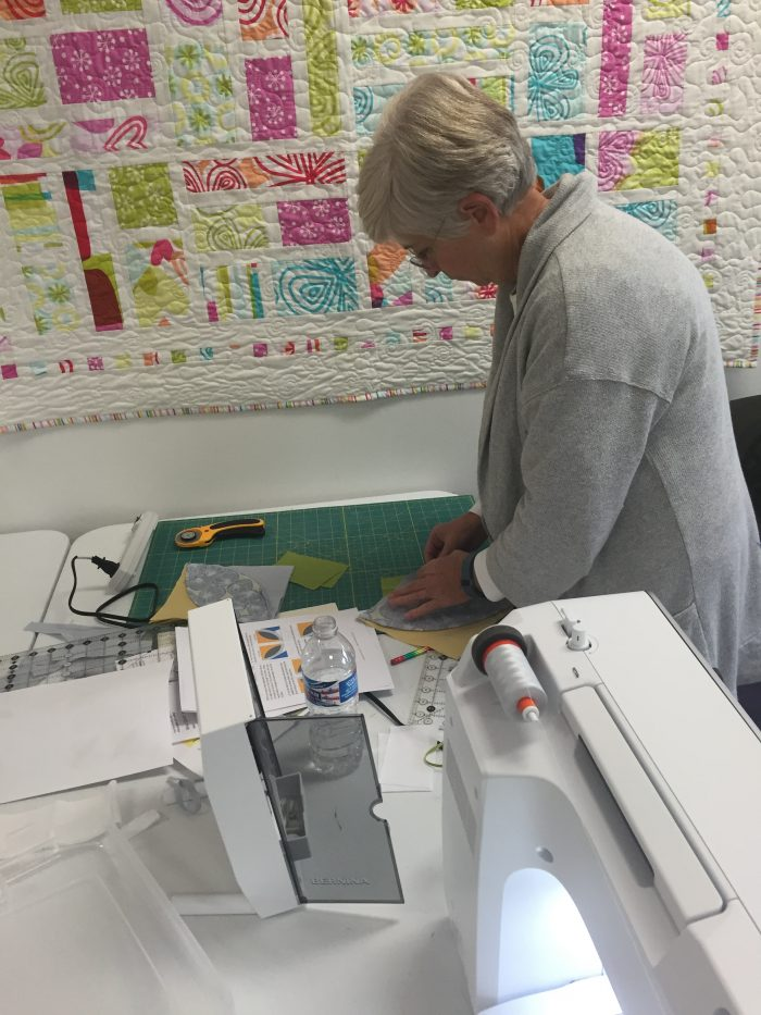 Quilting class, piecing curves
