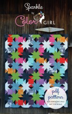 Basic piecing really shows off contrasting colors. Includes 3 sizes, charm pack/layer cake friendly.