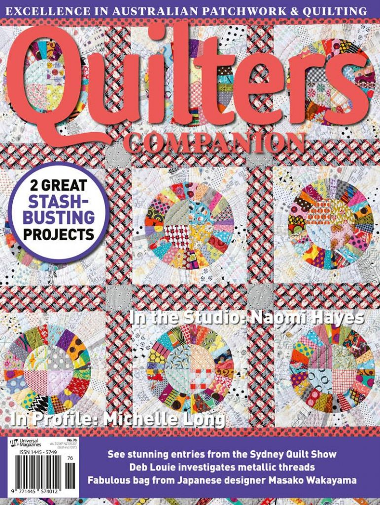 Quilters companion magazine 2015
