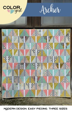 Archer quilt by Color Girl. Fat quarter quilt pattern