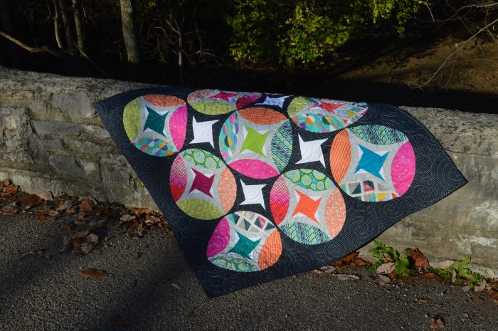 Eclipse quilt by sharon mcconnell using Tula Pink, Carrie Bloodstone and Zen chic fabrics