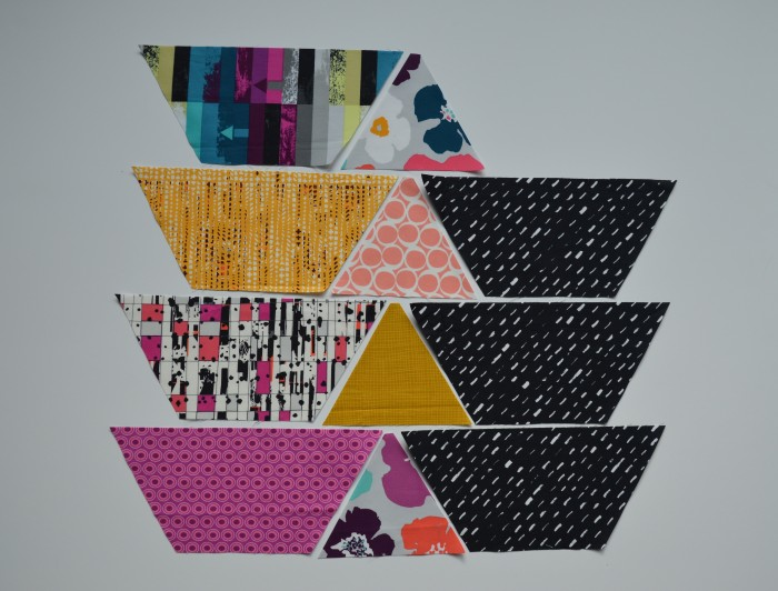 piecing hexagon quilt with Avante Garde fabrics by Art Gallery Fabrics
