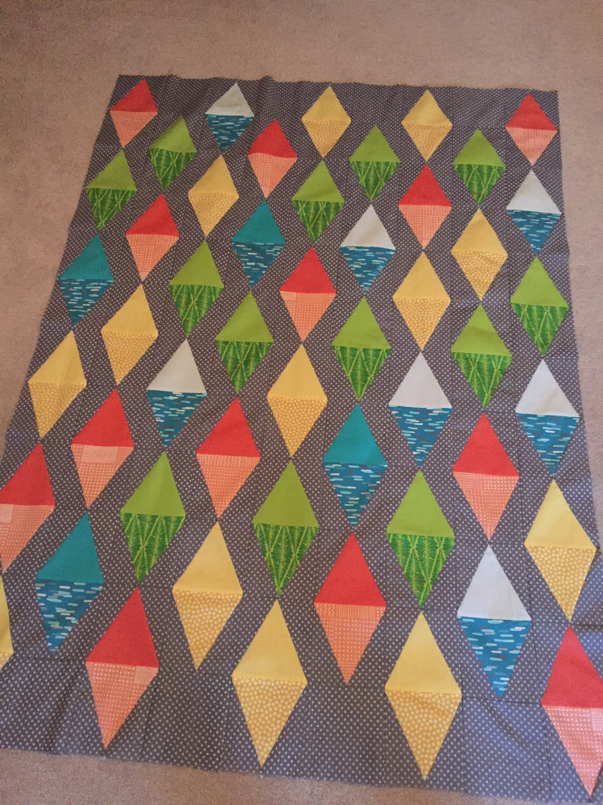 Quickie Quilt With Ez Quilting Tri Rec Color Girl Quilts