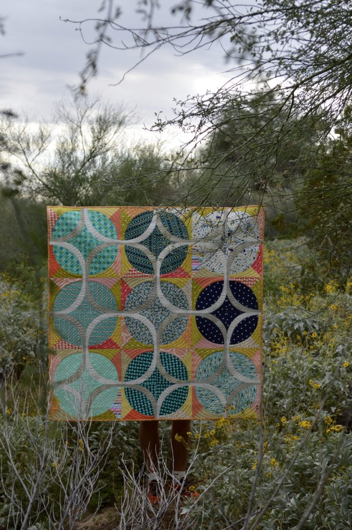 Ring Around Quilt with curved piecing by Sharon McConnell