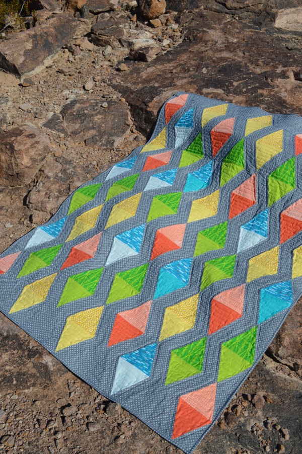 Play Time quilt by Sharon McConnell with Tri-Rec ruler tool by EZ quilting,