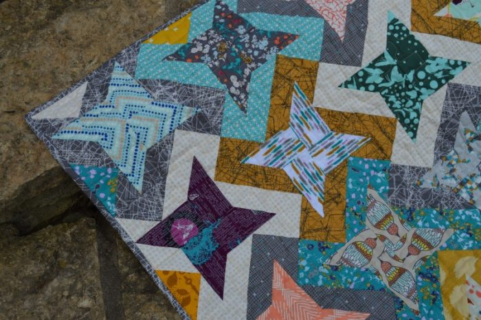 Fly Over quilt, scrappy quilt pattern by Sharon McConnell
