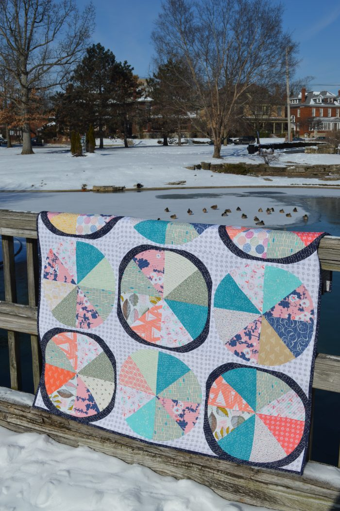 Coastal quilt by Sharon McConnell using Coastline Fabrics by Art Gallery Fabrics