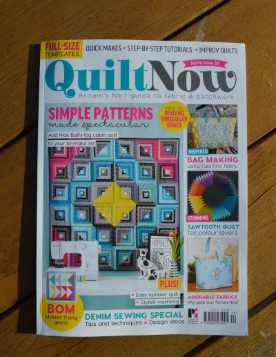 Quilt Now magazine, issue 20 featuring Fly Over Quilt pattern