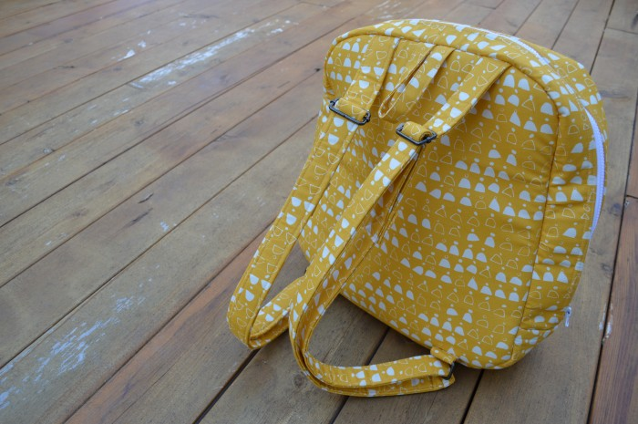 Handmade Backpack sewn by Sharon McConnell, pattern by Sew Sweetness