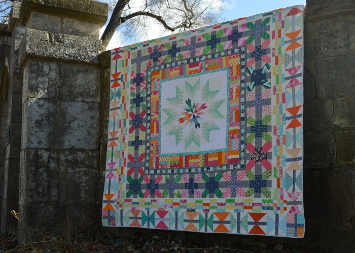Aviatrix medallion quilt by Sharon McConnell