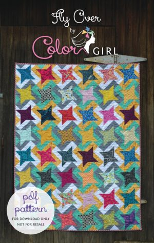 FlyOverQuilt by Color Girl quilt pattern cover