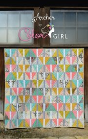 Archer quilt pattern cover, color girl quilts