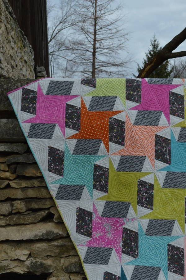 Spin quilt star patchwork quilt pattern by sharon mcconnell