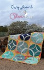 RingAround quilt pattern cover, modern ring curved piecing quilt