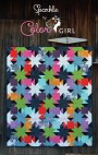 Sparkle quilt pattern cover, bright patchwork modern quilt