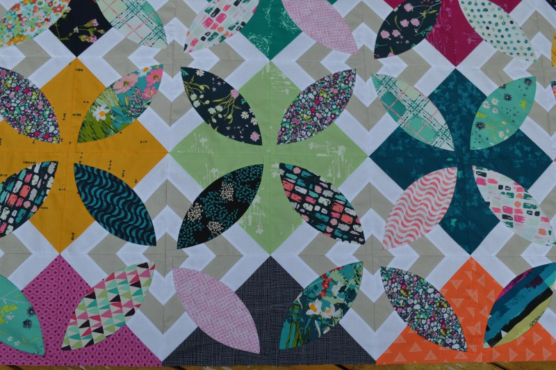 Summer Bloom quilt by Sharon McConnell with Art Gallery Fabrics