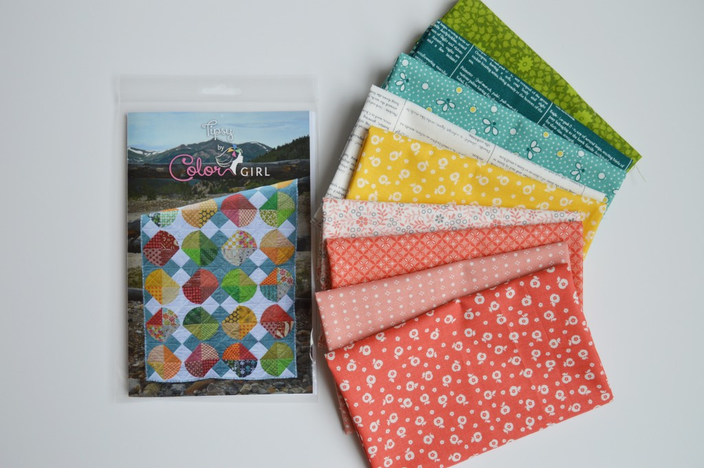 Tipsy pattern by Color girl quilts with RJR fabrics