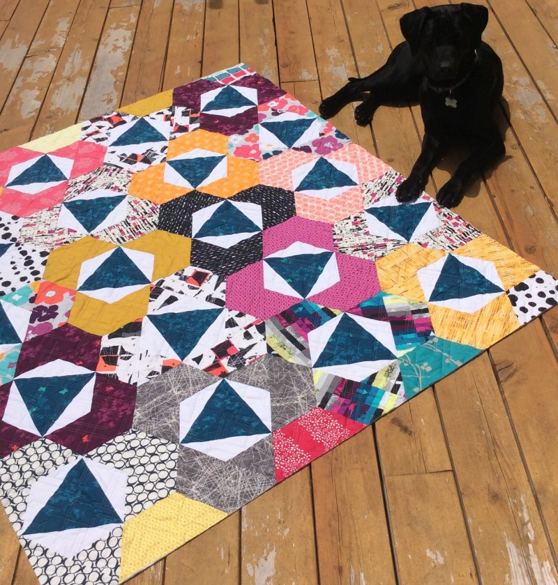 Trillium Quilt pattern by Sharon McConnell, with Art Gallery Fabrics