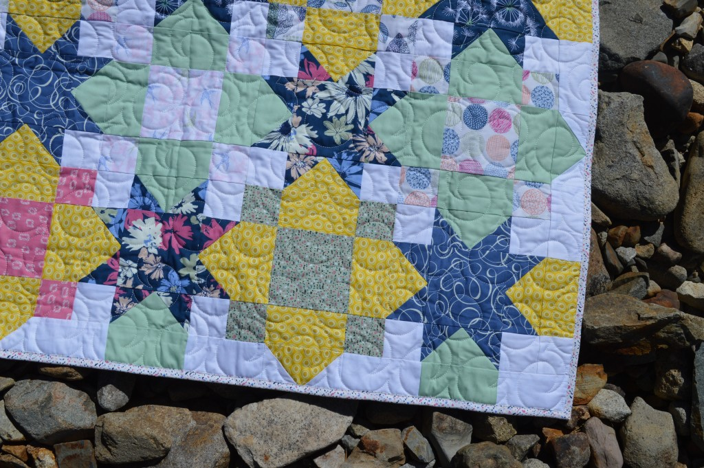 Lucky quilt pattern by Sharon McConnell using Sketchbook fabrics by Art Gallery Fabrics